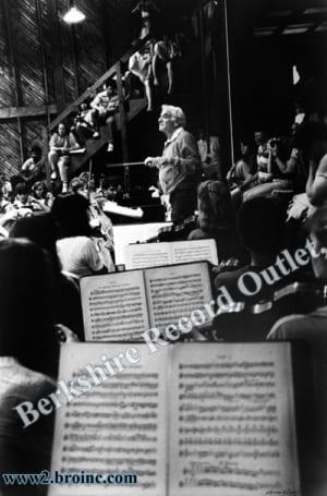 Leonard Bernstein rehearsing with student orchestra